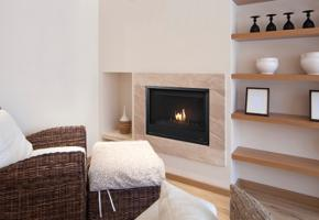 Modern clean face fireplace