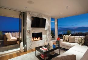 Indoor - Outdoor fireplace