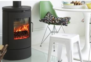 Well-designed stove with beautiful curves