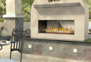 See Thru Linear Outdoor Fireplace