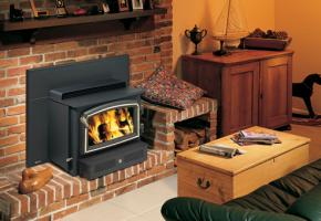 Hearth heater wood insert