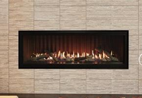 Boulevard linear fireplace