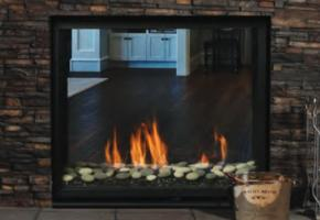 Clean face See-Through gas fireplace