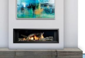 Enclave direct vent bay peninsula gas fireplace